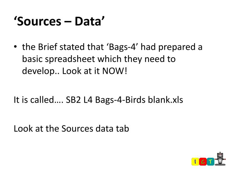 'Sources – Data'