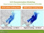 lca characterization modeling sharp increase in the chinese sulfate cooling zone 1978 2008