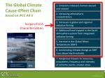 the global climate cause effect chain based on ipcc ar 5