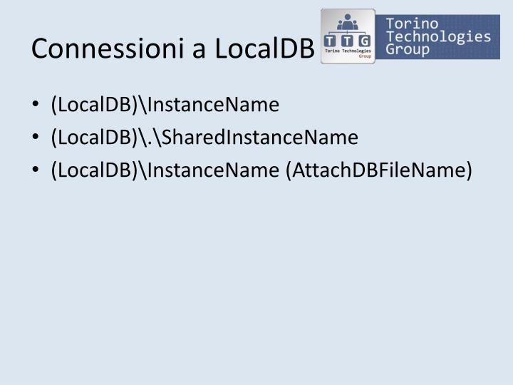 Connessioni a LocalDB