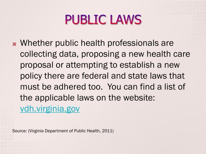 PUBLIC LAWS