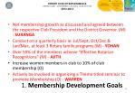 1 membership development goals
