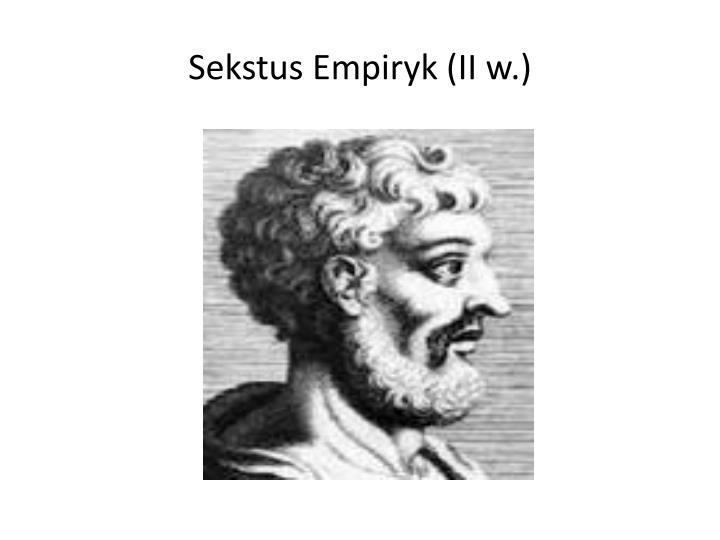 Sekstus empiryk ii w