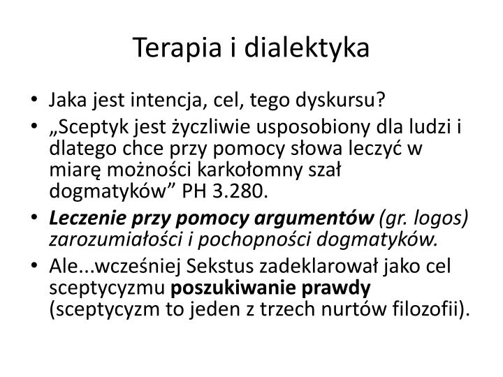Terapia i dialektyka