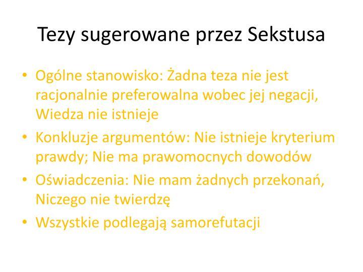 Tezy sugerowane przez Sekstusa
