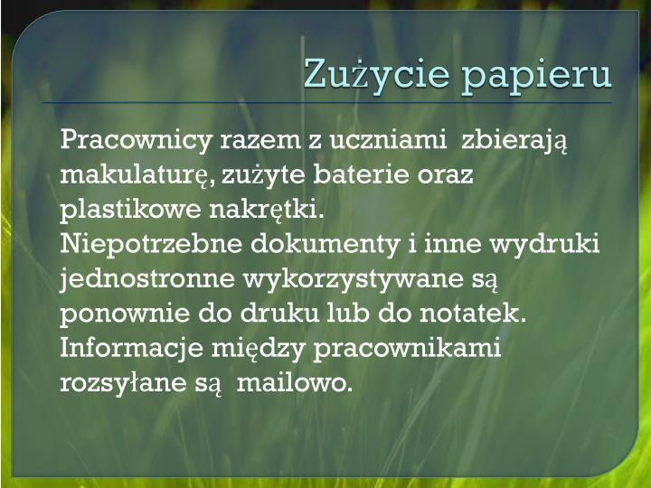 Zużycie papieru
