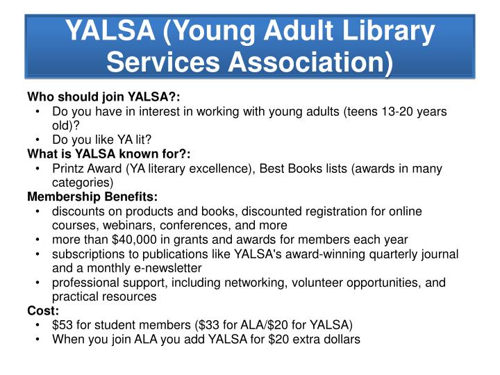 Who should join YALSA?: