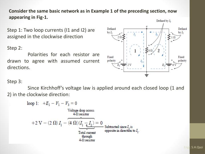 Consider the same basic network as in Example 1 of the preceding section, now appearing in Fig-1.