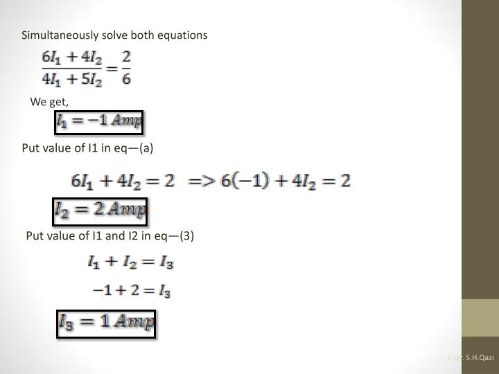 Simultaneously solve both equations