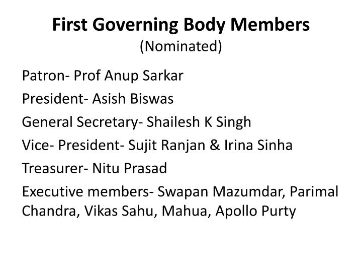 First Governing