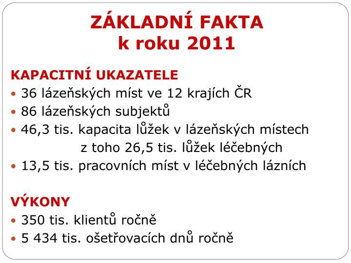 Z kladn fakta k roku 2011