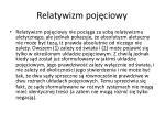 relatywizm poj ciowy1