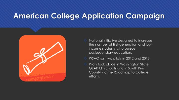 American College Application Campaign