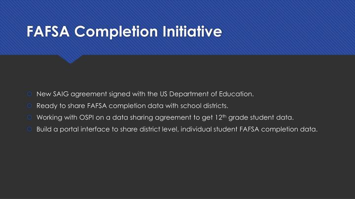 FAFSA Completion Initiative