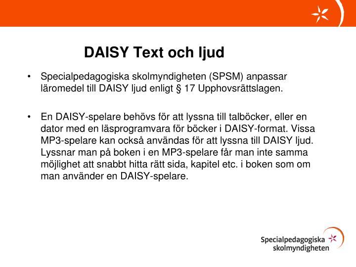 DAISY Text och ljud