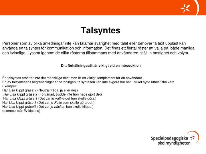 Talsyntes