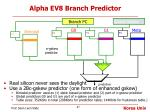 alpha ev8 branch predictor
