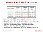 gshare branch predictor mcfarling93