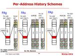 per address history schemes
