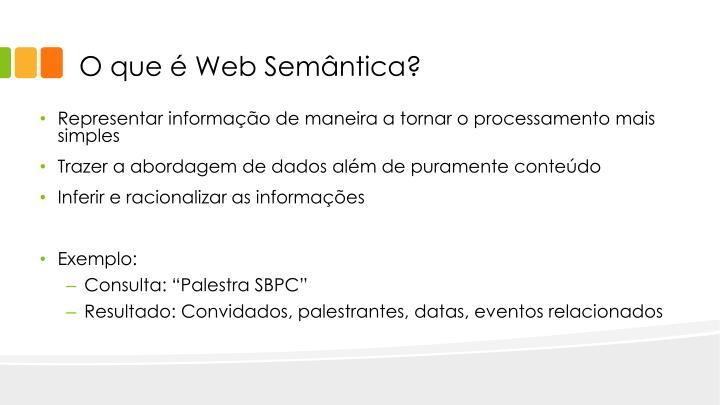 O que é Web Semântica?