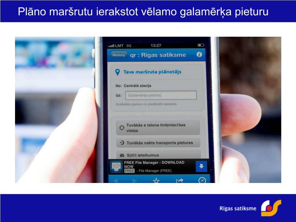 PPT - QR kodu lietošana sabiedriskā transporta informācijas