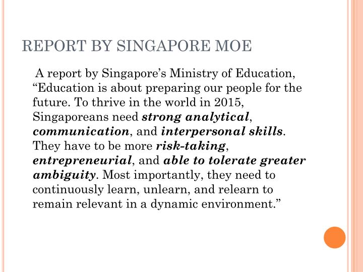 Report by singapore moe