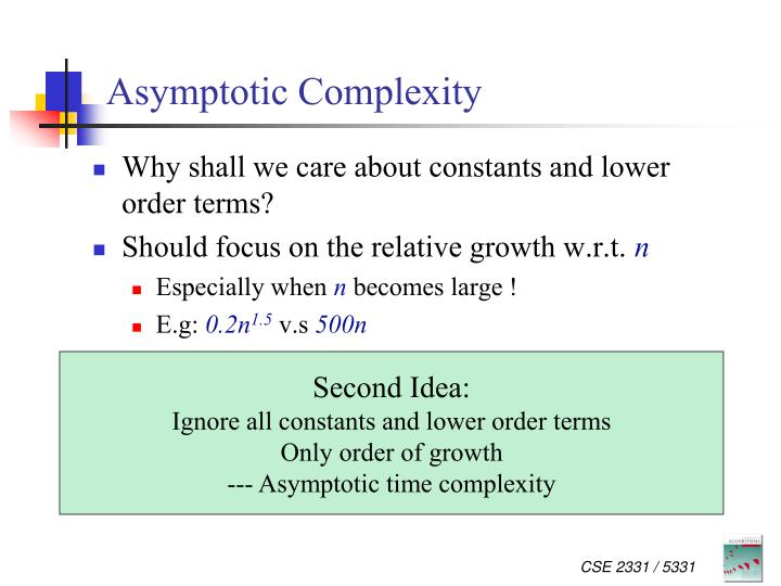 Asymptotic Complexity