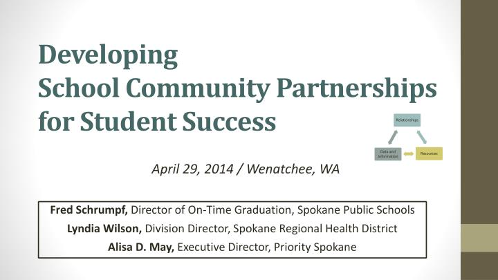 developing school community partnerships for student success n.