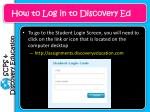how to log in to discovery ed