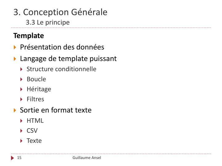 3. Conception Générale