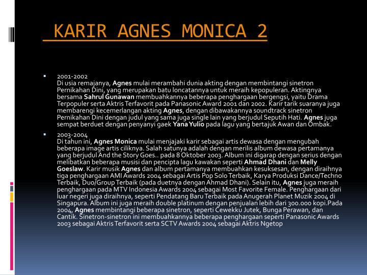 Karir agnes monica 2