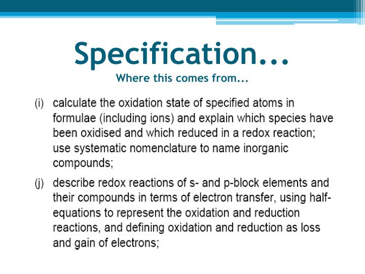 Specification...