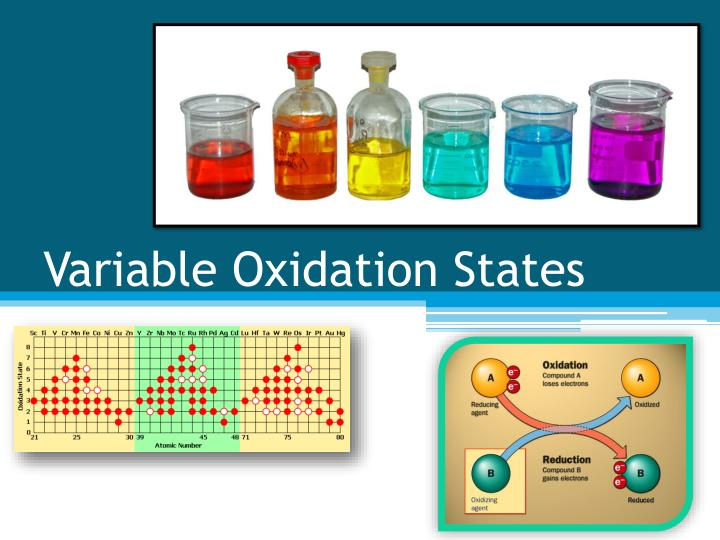 Variable oxidation states