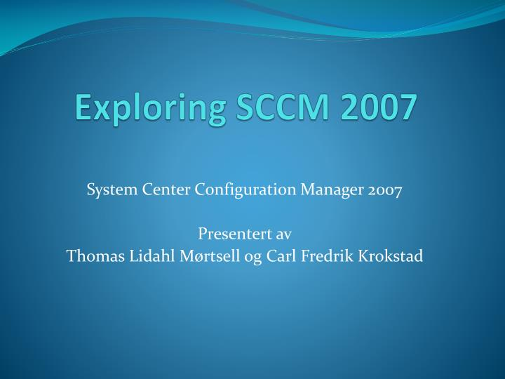Sccm report for specific software installed on pc