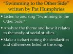 swimming to the other side written by pat humphries