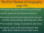 the five themes of geography page i14