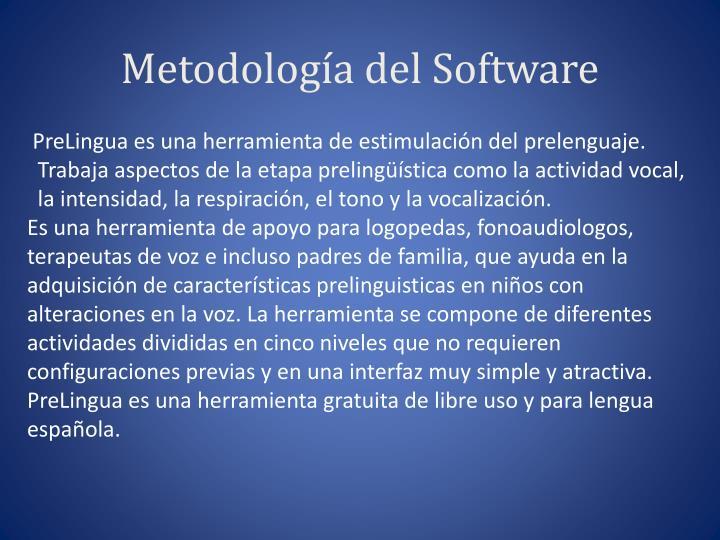 Metodolog a del software