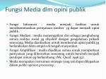 fungsi media dlm opini publik