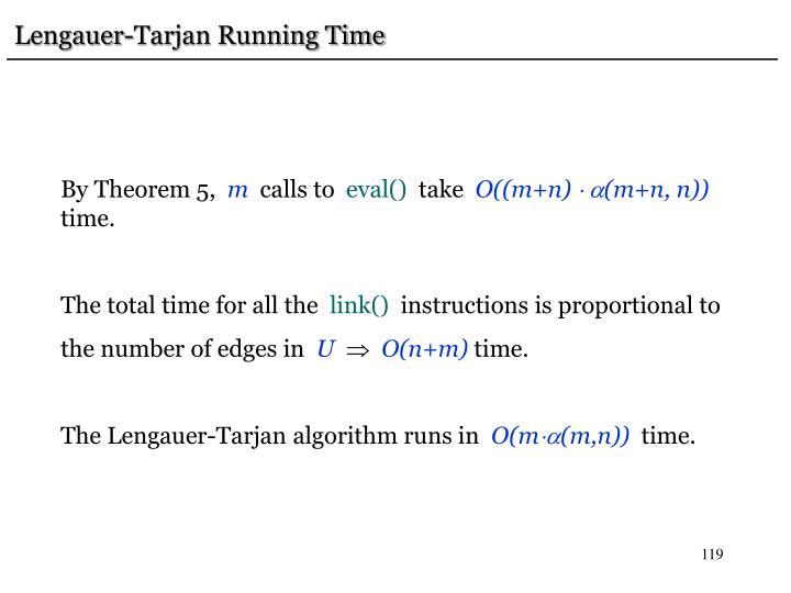 Lengauer-Tarjan Running Time