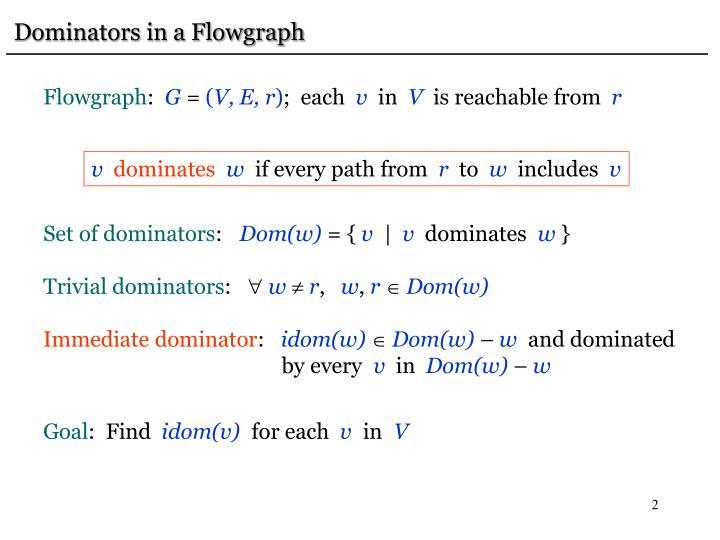 Dominators in a Flowgraph