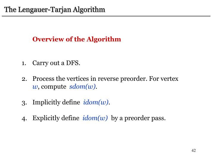 The Lengauer-Tarjan Algorithm
