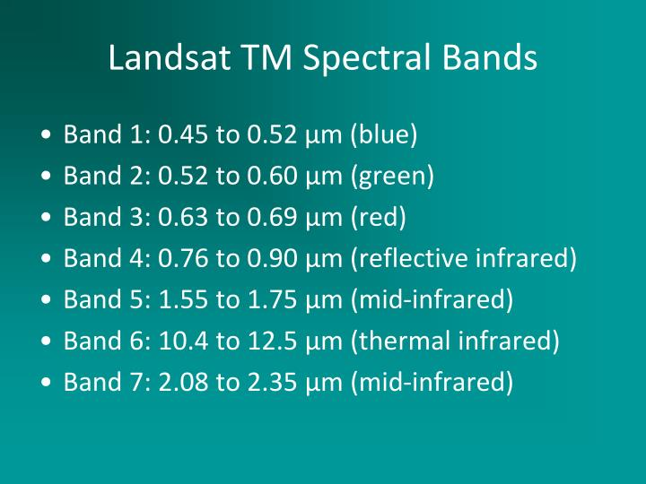 Band 1: 0.45 to 0.52