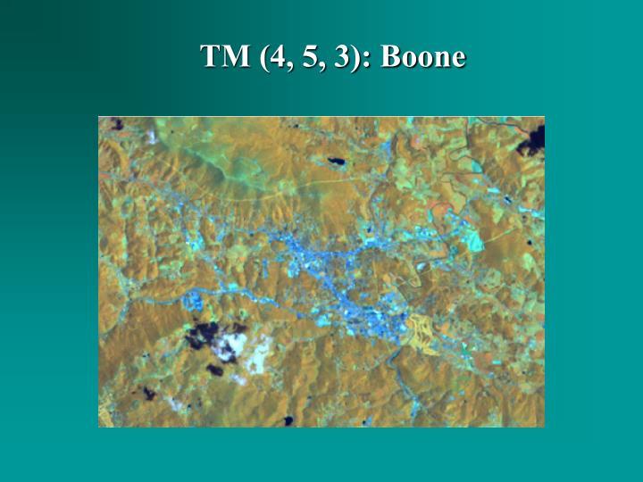 TM (4, 5, 3): Boone