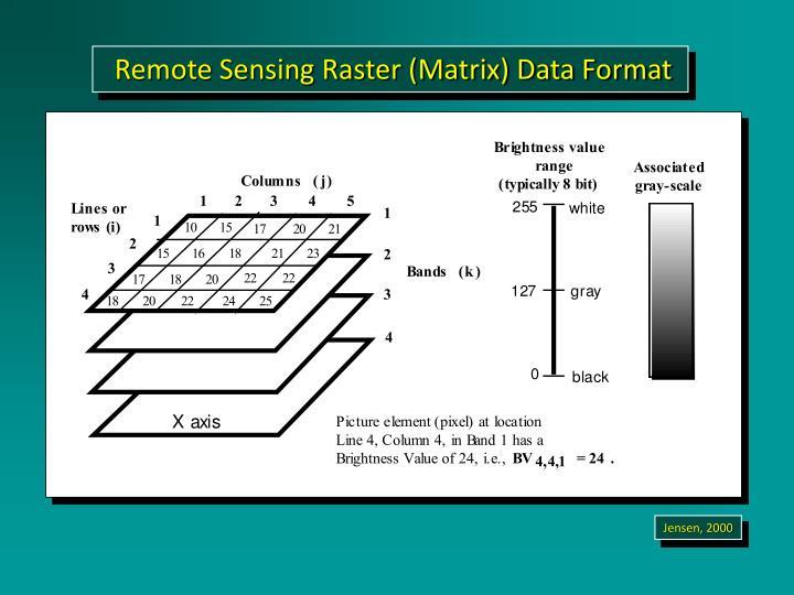 Remote Sensing Raster (Matrix) Data Format