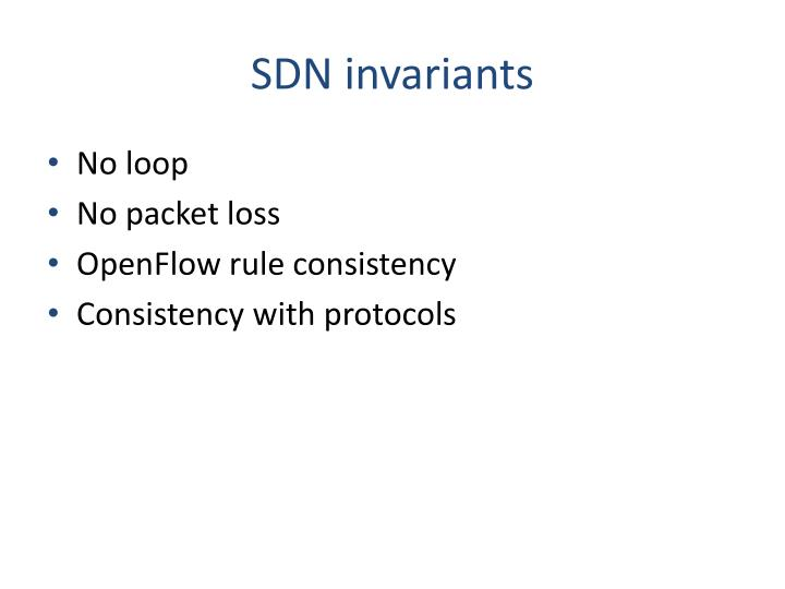SDN invariants