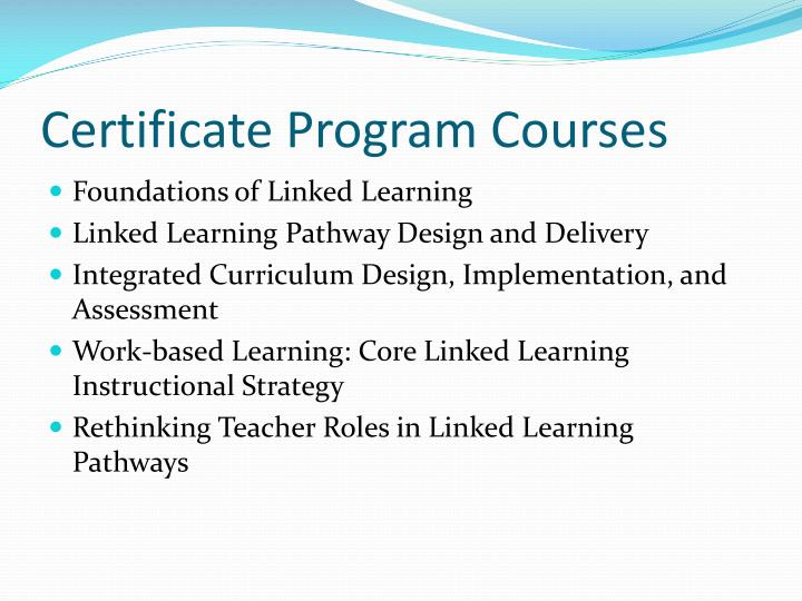 Certificate Program Courses