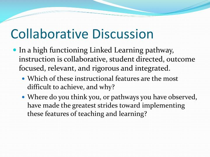 Collaborative Discussion