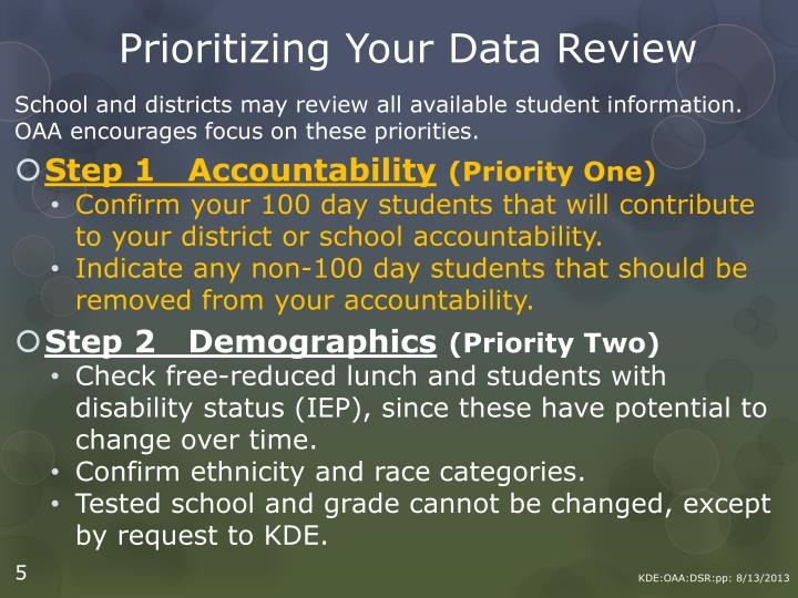 Prioritizing Your Data