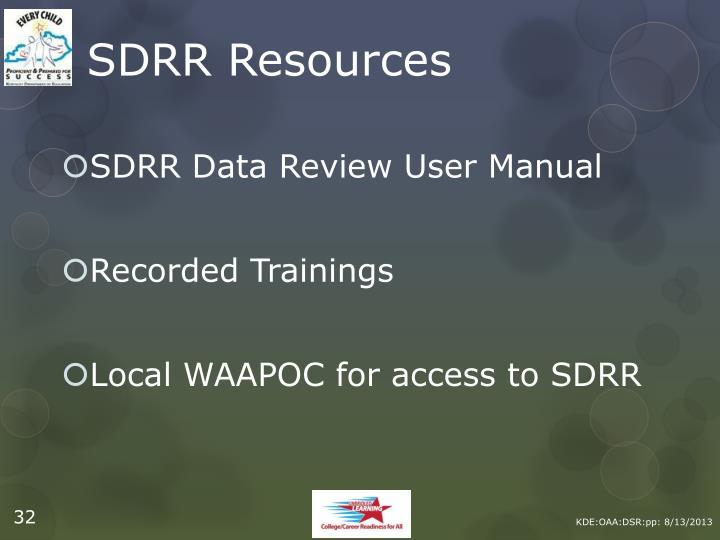SDRR Resources