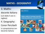 maths geography